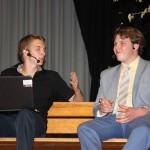 Die Schülervertreter Ralf und Samuel