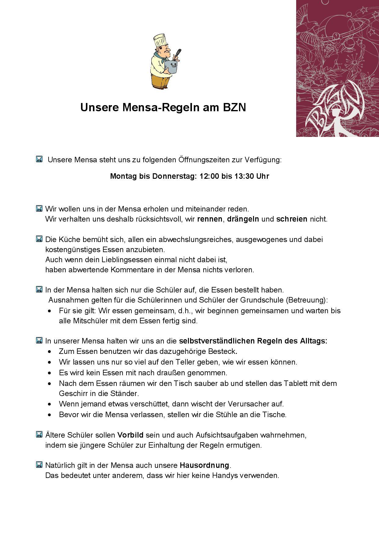 Verhalten in der Mensa-001