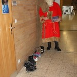 Der Nikolaus in Aktion