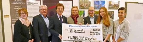 SPENDE DES KIWANI-CLUBS KÜNZELSAU AN DAS BZN
