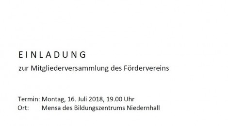 FREUNDE DES BILDUNGSZENTRUMS NIEDERNHALL